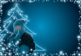 Blue Christmas 09 - background illustration as retouch poster