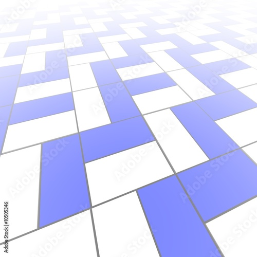 Blue and white blocks pattern abstract background.