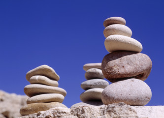 Stapel von Kieselsteinen