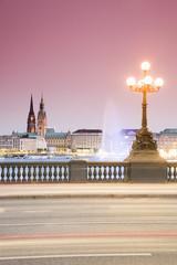 Deutschland, Hamburg, Blick von Lombardobrücke, Alster