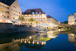 Germany, Nuremberg, promende at the waterside