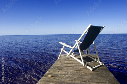 Deck chair on jetty