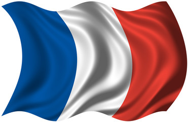 The National Flag of France (drapeau tricolore)