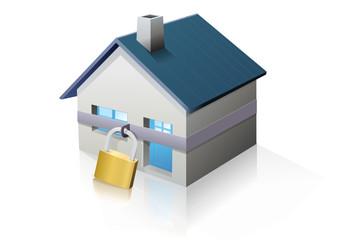 Maison sécurisée (reflet)