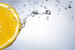 fresh water drops on orange