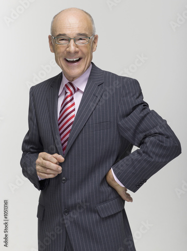 Senior business man smiling, portrait