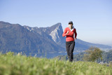 Woman jogging, outdoor, Austria