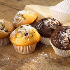 Schokolade und Muffins