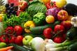 Group of different fruit and vegetables - 10517173