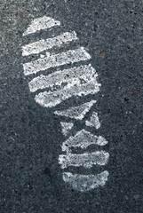 Schuh Abdruck, close-up