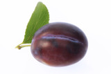 plum, cut-out, white background