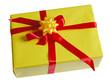 Gelbes Weihnachtsgeschenk