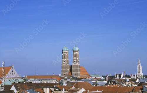View of Munich, Germany, with Frauenkirche
