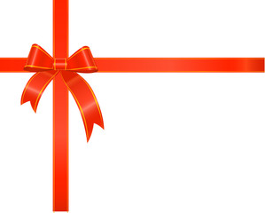 red gift ribbon,bow