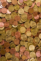A background texture with coins
