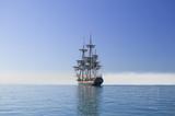 Tall Sailing Ship at Sea under full sail - 10527530