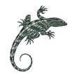 Gecko Design in metalic