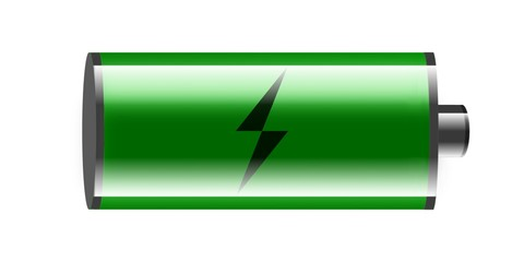 illustration of battery on white background