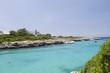 Menorca Cala Santandria boats and sea view