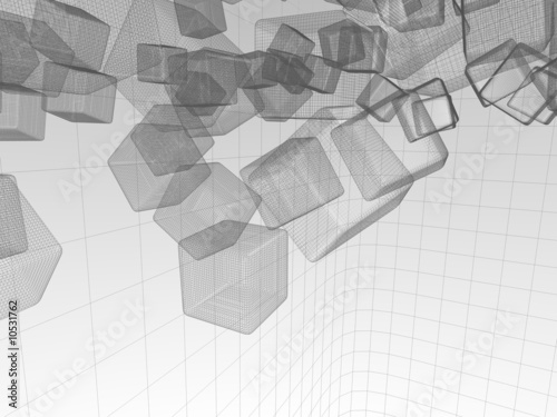 Technical wireframe Background