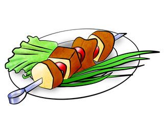 shish kebab illustration