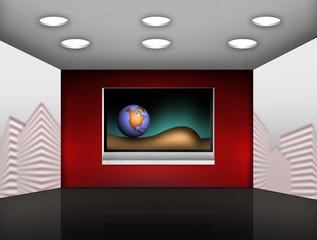 modern media room