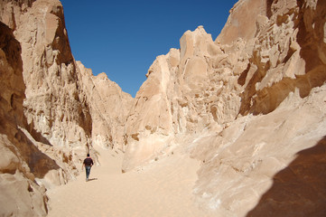 White canyon in Egypt. Sinai peninsula, Nuweiba.