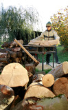 Cutting of wood on winter, supply