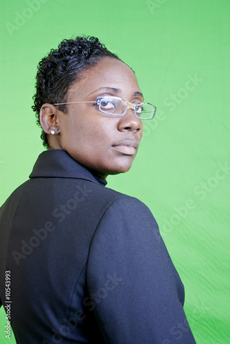 An African American businesswoman with an attitude.