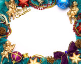 Christmas frame for your congratulations and best wishes poster
