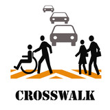 crosswalk safety poster