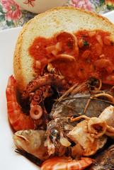 Caldaro - Secondi di pesce della cucina Toscana Maremma