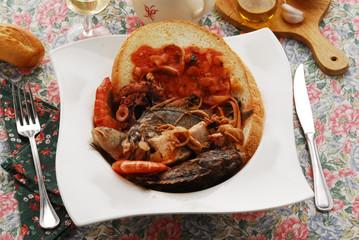 Caldaro - Secondi di pesce - Cucina Toscana Maremma