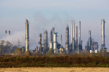 A big oil refinery in the country  in Italy