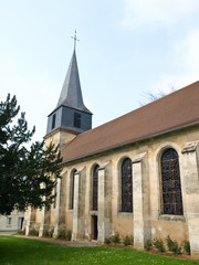 Small medieval church in french village