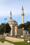 Mosque with two minarets in Baku, Azerbaijan.... poster
