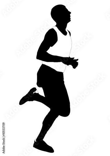 Silhouette running men