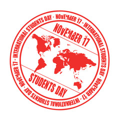 students day rubber stamp