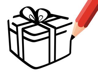Disegno pacco regalo