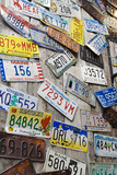 Battered vintage american car registration numbers