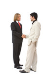 agreement concept with business people handshaking poster