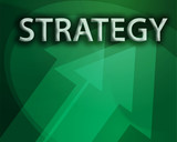 Strategy illustration, abstract management success concept poster