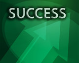 Success illustration, abstract management strategy concept poster