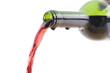 object on white - Open wine bottle