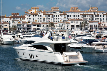 Big Yachts in Puerto Banus Harbour