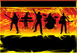 Постер, плакат: Rock Band Grunge Background