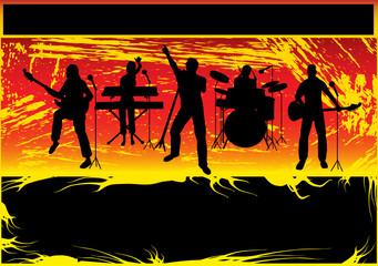 Rock Band Grunge Background
