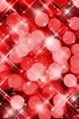 Abstract red background of holiday lights