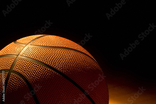 Basketball left on the court - 10577777