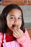 Girl Eating Dough poster